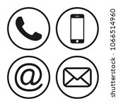contact icons. communication... | Shutterstock .eps vector #1066514960