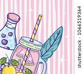 summer time juice cartoon | Shutterstock .eps vector #1066519364