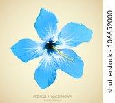 hibiscus flower vector... | Shutterstock .eps vector #106652000