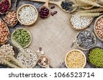 Top View Of Cereal Grain And...
