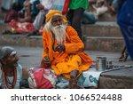 varanasi  india   mar 29  2018  ... | Shutterstock . vector #1066524488