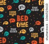 seamless pattern with speech... | Shutterstock .eps vector #1066525610