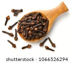 dried cloves in the wooden... | Shutterstock . vector #1066526294