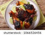 jamaican food  jerk chicken... | Shutterstock . vector #1066526456