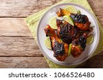 caribbean grilled chicken... | Shutterstock . vector #1066526480