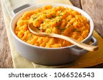 vegetarian food  mashed sweet... | Shutterstock . vector #1066526543