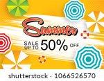 summer sale 50  banner design... | Shutterstock .eps vector #1066526570