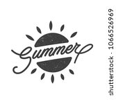 summer badge  emblem  logo | Shutterstock .eps vector #1066526969