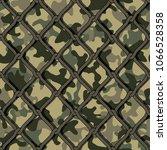camouflage net seamless... | Shutterstock .eps vector #1066528358
