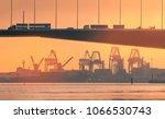 a road bridge with trucks  cars ... | Shutterstock . vector #1066530743