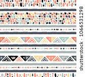 ethnic seamless pattern in... | Shutterstock .eps vector #1066531298