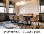 open plan apartment interior ... | Shutterstock . vector #1066531406