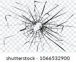 broken glass  cracks on glass ... | Shutterstock .eps vector #1066532900