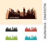 little rock skyline city logo... | Shutterstock .eps vector #1066533746