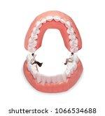 miniature dentist and nurse ...   Shutterstock . vector #1066534688