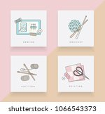 set of four icons depicting... | Shutterstock .eps vector #1066543373