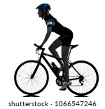 one caucasian cyclist woman...   Shutterstock . vector #1066547246