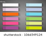 set of color sheets of note... | Shutterstock .eps vector #1066549124