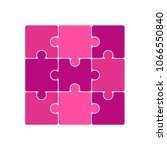 vector jigsaw puzzle pieces.... | Shutterstock .eps vector #1066550840