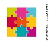 vector colorful jigsaw puzzle... | Shutterstock .eps vector #1066551956