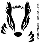 badger vector illustration | Shutterstock .eps vector #1066553546
