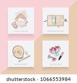 line art icon set depicting... | Shutterstock .eps vector #1066553984