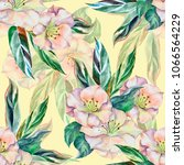 watercolor seamless pattern.... | Shutterstock . vector #1066564229