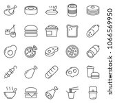 thin line icon set   sausage... | Shutterstock .eps vector #1066569950