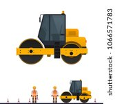 vector road roller  road roller ...   Shutterstock .eps vector #1066571783