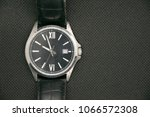 luxury male wristwatch over... | Shutterstock . vector #1066572308
