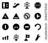 solid vector icon set  ... | Shutterstock .eps vector #1066573310