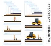 vector road roller  road roller ... | Shutterstock .eps vector #1066577333