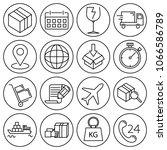 editable stroke. simple set of... | Shutterstock .eps vector #1066586789
