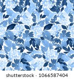 seamless watercolor floral... | Shutterstock . vector #1066587404