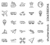thin line icon set   home... | Shutterstock .eps vector #1066588346