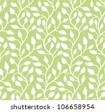 Seamless Green Leaf Pattern....