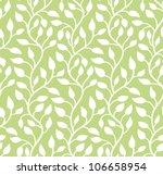 Seamless Green Leaf Pattern....
