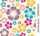 flower pattern | Shutterstock .eps vector #106659014