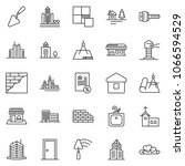 thin line icon set   mortgage... | Shutterstock .eps vector #1066594529
