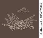 black pepper  plant  pepper and ... | Shutterstock .eps vector #1066596896