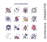 space icons made in modern line ...   Shutterstock .eps vector #1066602740