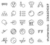 thin line icon set   success... | Shutterstock .eps vector #1066604069