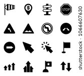 solid vector icon set   side... | Shutterstock .eps vector #1066607630