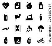 solid vector icon set   heart... | Shutterstock .eps vector #1066607639