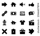 solid vector icon set   right...