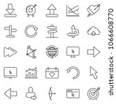 thin line icon set   around the ... | Shutterstock .eps vector #1066608770
