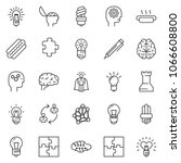 thin line icon set   super... | Shutterstock .eps vector #1066608800