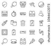 thin line icon set  ... | Shutterstock .eps vector #1066612073