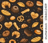 bakery background. vector... | Shutterstock .eps vector #1066612409