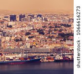 sunny day view of lisbon from... | Shutterstock . vector #1066616273